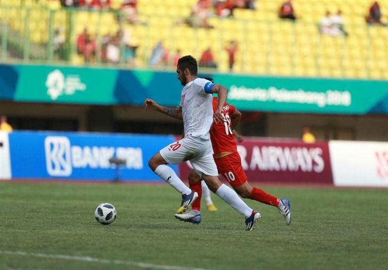 بازی های آسیایی 2018، تساوی یک نیمه ای تیم فوتبال امید مقابل میانمار