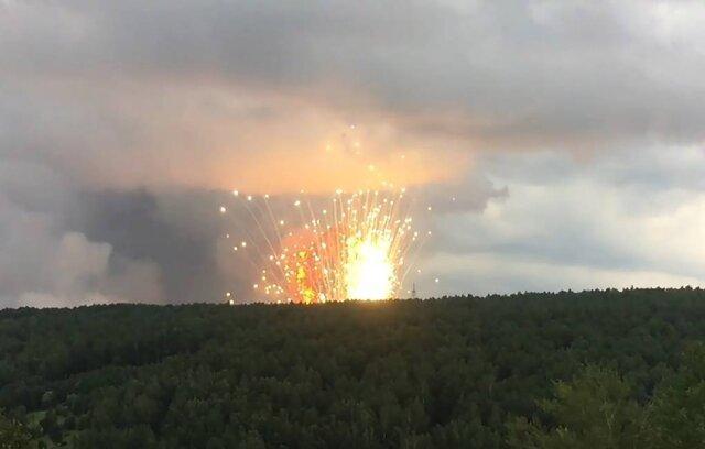 انفجار انبار مهمات در سیبری